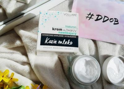 Vollare Cosmetics - Kozie mleko, Krem do twarzy, Nawilżający, Intensywne Nawilżanie i Wygładzenie, Hialuron.