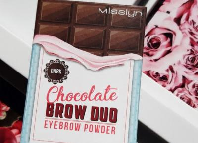Misslyn - Chocolate Brow Duo Eyebrow Powder, Puder do brwi, Dark.