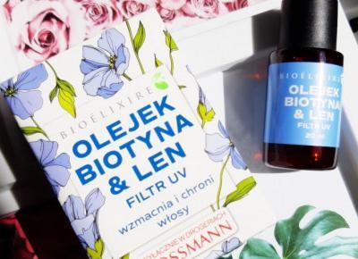 Bioélixire - Olejek do włosów, Biotyna & Len, Wzmacnia i chroni włosy.