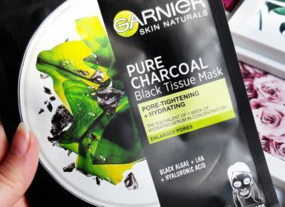Garnier - Skin Naturals, Pure Charcoal, Maska do twarzy w płacie, Oczyszczająca i nawilżająca.