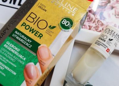 Eveline - Nail Therapy Professional, Bio Power, Utwardzacz do paznokci, Naturalny, Głęboko regenerujący.