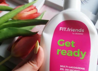 Oceanic - FIT.friends, Get Ready, Żel do higieny intymnej, Multi-łagodzenie, Kwas mlekowy, kompleks nawilżający i D-pantenol.