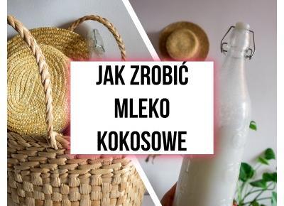 Przepis na mleko kokosowe za 2,50 zł - zero waste - Aniamaluje - blog lifestylowy dla młodych kobiet.
