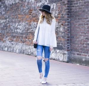 boho white shirt