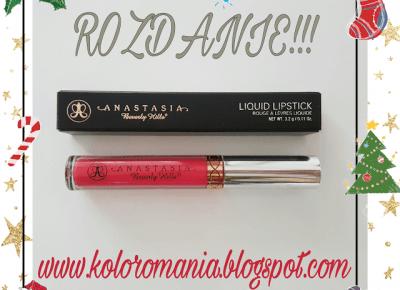 Świąteczne rozdanie! Anastasia Beverly Hills Liquid Lipstick Carina        |
