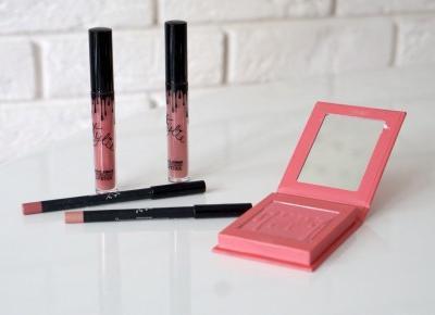 Kylie cosmetics Velvet Lipkit Harmony i Charm oraz róż do policzków Virginity – WordPress