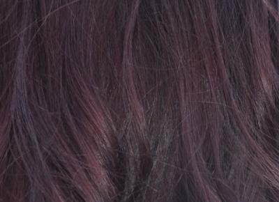 Fiołkowa brunetka- eksperymenty z ciemnymi włosami. |