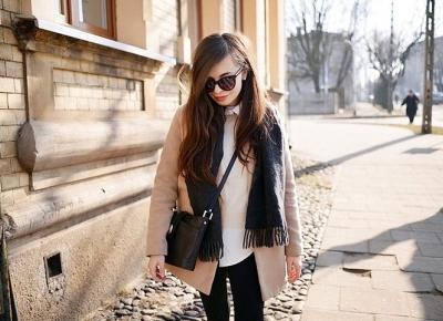 ootd / beżowy płaszcz