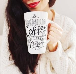 wielki kubek kawy
