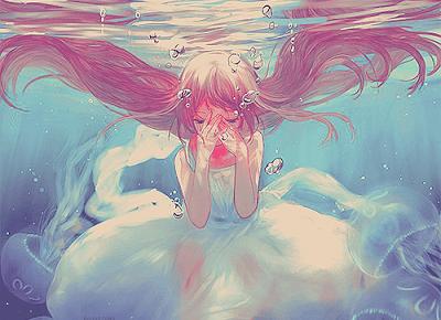 Asami Nach : Anime cry girl image