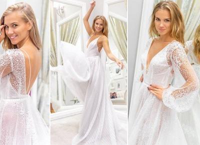 Mamy zdjęcia DWÓCH sukni ślubnych Agnieszki Kaczorowskiej! Kto je zaprojektował?