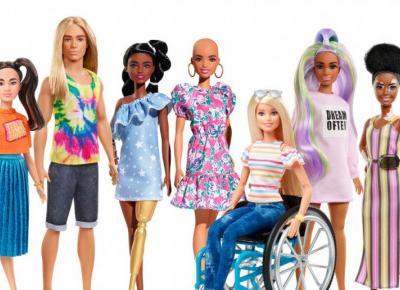 Nowe Barbie będą łyse, z bielactwem, na wózku inwalidzkim. Mattel promuje różnorodność