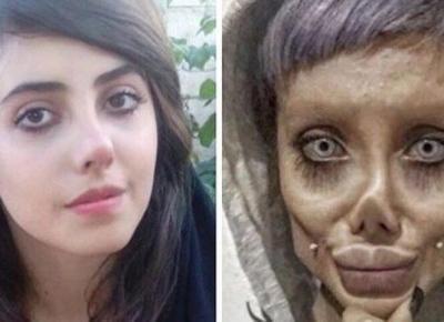 Chciała wyglądać jak Angelina Jolie... zrobiła z siebie zombie!