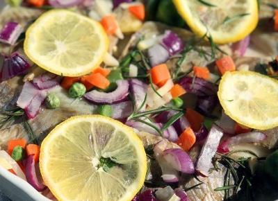 Dorsz w sosie cytrynowym z warzywami - A to pestka!