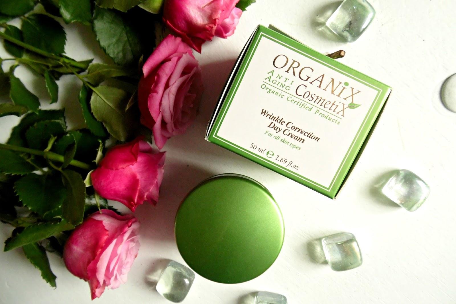 Avida Dollars Blog: Organiczny, lekki krem na dzieńi dealny podpod makijaż | Organix Cosmetix, Organiczny przeciwzmarszczkowy krem  na dzień