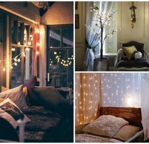 Avida Dollars Blog: Dekoracja wnętrz | Lampki choinkowe nie tylko na święta | Pomysły na dekoracje świetlne do domu