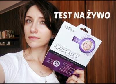 TEST NA ŻYWO | Maska Bomblująca L'Biotica Bubble Mask