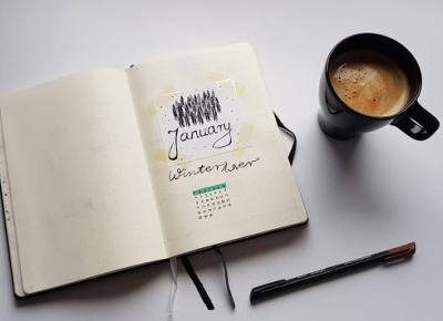 everything and nothing: Zaplanuj styczeń | Bullet Journal