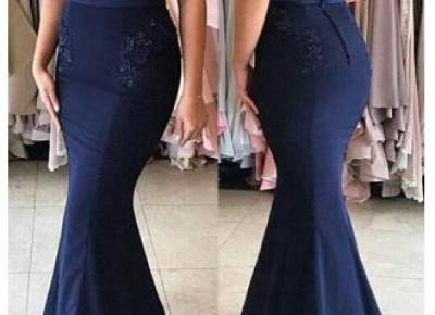 Simple Strapless Mermaid Party Dresses 2017 Buttons Beadings Appliques Prom Dress_Prom Dresses 2017_Prom Dresses_Special Occasion Dresses_Buy High Quality Dresses from Dress Factory - Babyonlinedress.