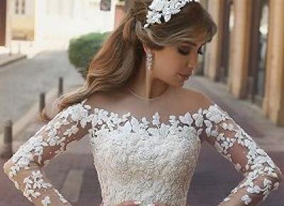 Exklusive Hochzeitskleider Mit armel | Spitze Brautkleider Gunstig Online | www.babyonlinewholesale.com
