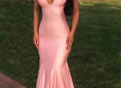 Schlichte Abendkleider Lang Rosa | Abendmoden Abiballkleider Kaufen | Babyonlinewholesale