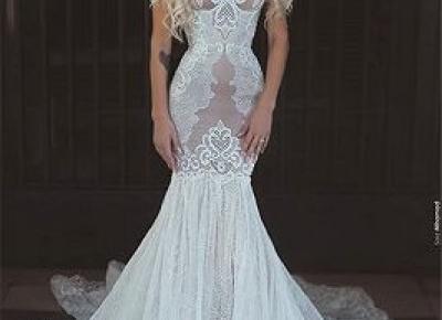 Designer Brautkleider Mit Spitze | Meerjungfrau Hochzeitzeitskleid Gunstig Online | www.babyonlinewholesale.com