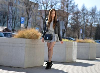 LEATHER JACKET | FISHNET TIGHTS