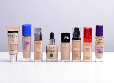 PODKLADY | RECENZJA | SWATCHE | POROWNANIE | CATRICE HD LIQUID COVERAGE | BOURJOIS HEALTHY MIX | 123 PERFECT | LOREAL TRUE MATCH | REVLON COLORSTAY | ASTOR PERFECT STAY | MAYBELLINE AFFINITONE | RIMME
