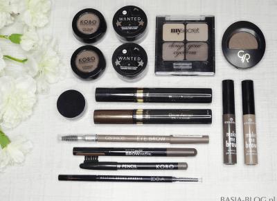 Przegląd produktów do brwi (cienie, pomady, kredki, żele/maskary) | BASIA-BLOG.pl