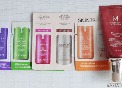Swatche: kremy BB Skin79, Missha Perfect Cover #13, Missha The Style Fitting Wear Foundation #13 | BASIA-BLOG.pl