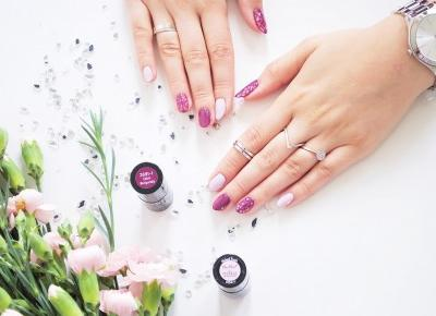 Negative Space - geometryczne zdobienie paznokci lakierami NeoNail Calm Burgundy oraz Naked Truth - BeautypediaPatt   blog urodowy