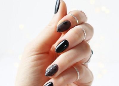Czarne paznokcie hybrydowe | spacemani i manitiul - BeautypediaPatt | blog urodowy