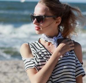 Alterations - blog o modzie : Bluzka cold shoulder w paski, czyli klasyka połączona z nowoczesnością