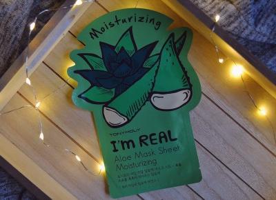Tony Moly I'm Real, Aloe Mask Sheet | małe życie