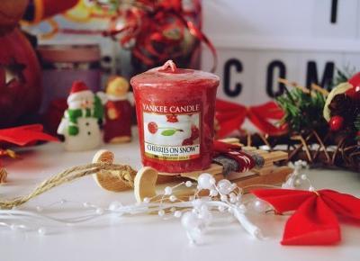 Najpiękniejszy zapach yankee candle - cherries on snow. | małe życie