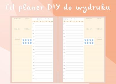 Fit planer DIY do wydruku | Blogodynka.pl