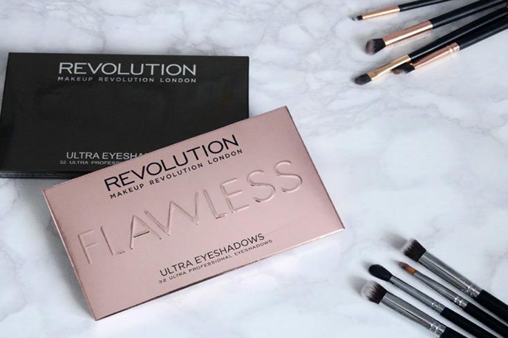 Makeup Revolution palety cieni Flawless i Affirmation