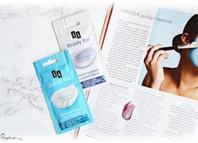 Blog Brylantina: Oczyszczanie oraz nawilżanie skóry twarzy z maseczkami AA Cosmetics