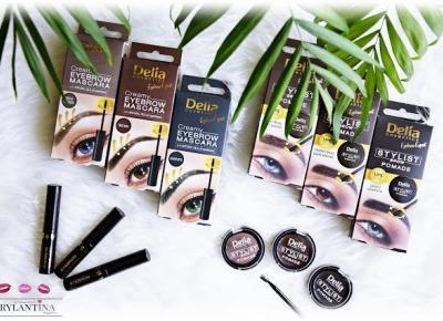 Blog Brylantina: Stylizacja brwi - Pomada i Maskara do brwi | Delia Cosmetics