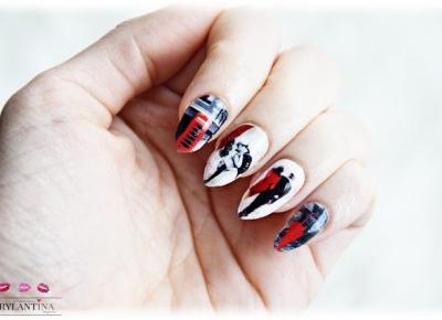 Blog Brylantina: Walentynkowy Manicure | Aliexpress | Naklejki wodne na paznokcie