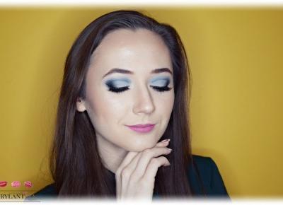 Blog Brylantina: Granatowo-błękitny makijaż Cut Crease | Delia Cosmetics i inne
