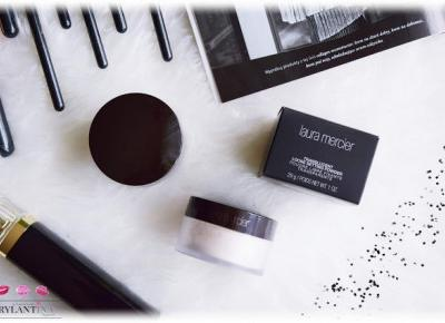 Blog Brylantina: Transparentny puder utrwalający makijaż | Translucent Loose Setting Powder | Laura Mercier