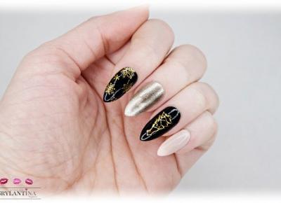Blog Brylantina: Mikołajki 2017 | Świąteczny manicure | Naklejki na paznokcie | Aliexpress