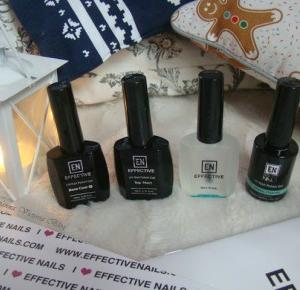 Recenzja hybryd od Effective Nails - Nail Prep, Baza, Lakier hybrydowy, Top matt