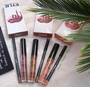 Recenzja pomadek KYLIE JENNER Lip Kit - Love Bite, Dirty Peach, Brown Sugar - Joanna Victoria Blog