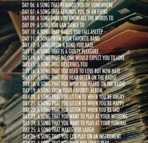 Hidden Vanilla: 30 DAY SONG CHALLENGE - Day 01: ulubiona piosenka/fav song