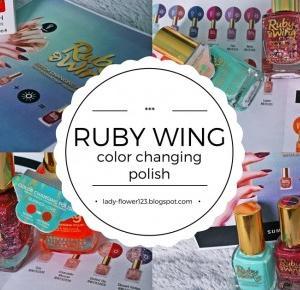 Lifestyle by Ladyflower.: Recenzja: Lakiery zmieniające kolor marki Ruby Wing.