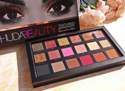 Recenzja: Huda Beauty, Textured Shadows Palette Rose Gold Edition, paleta cieni do powiek. – Ladyflower.pl