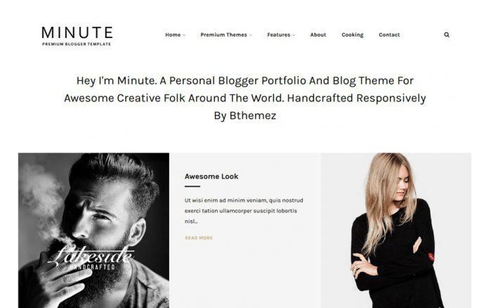 Minute Responsive Blogger Template - Kreatywny szablon – Centrum Blogera