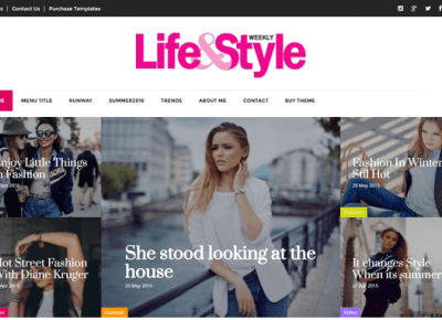 Lifestyle Blog Magazine Blogger Template For FREE – Centrum Blogera